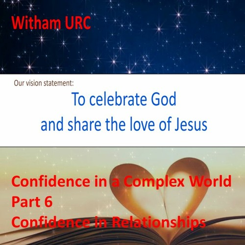Confidence In Relationships. Part 6. 1 Peter ch 3 vs 1 -1 2