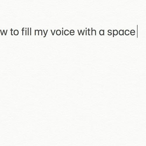 How To Fill My Voice With A Space