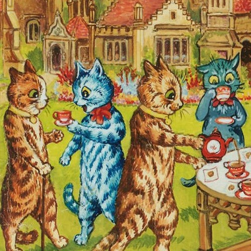 A Picturesque Collection of Cats Sipping on Tea and Shuffling About