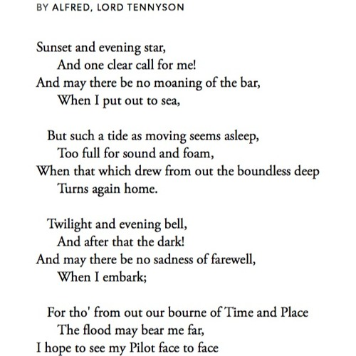 367 Crossing The Bar By Alfred Lord Tennyson Read By Alexander Armstrong By Samuel West Pandemicpoems