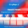 Head & Heart (Lower Key - Originally Performed by Joel Corry feat. MNEK) (Piano Instrumental Version)