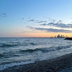 Roaring Waves of Lake Ontario After Sunset (Binaural Audio)