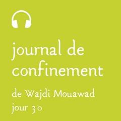 Mercredi 15 avril - Journal de confinement - Jour 30