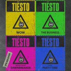 Tiësto & Matisse & Sadko, SWACQ - The Business vs. WOW vs. Dawnbreaker vs. Party Time (IPN Mashup)