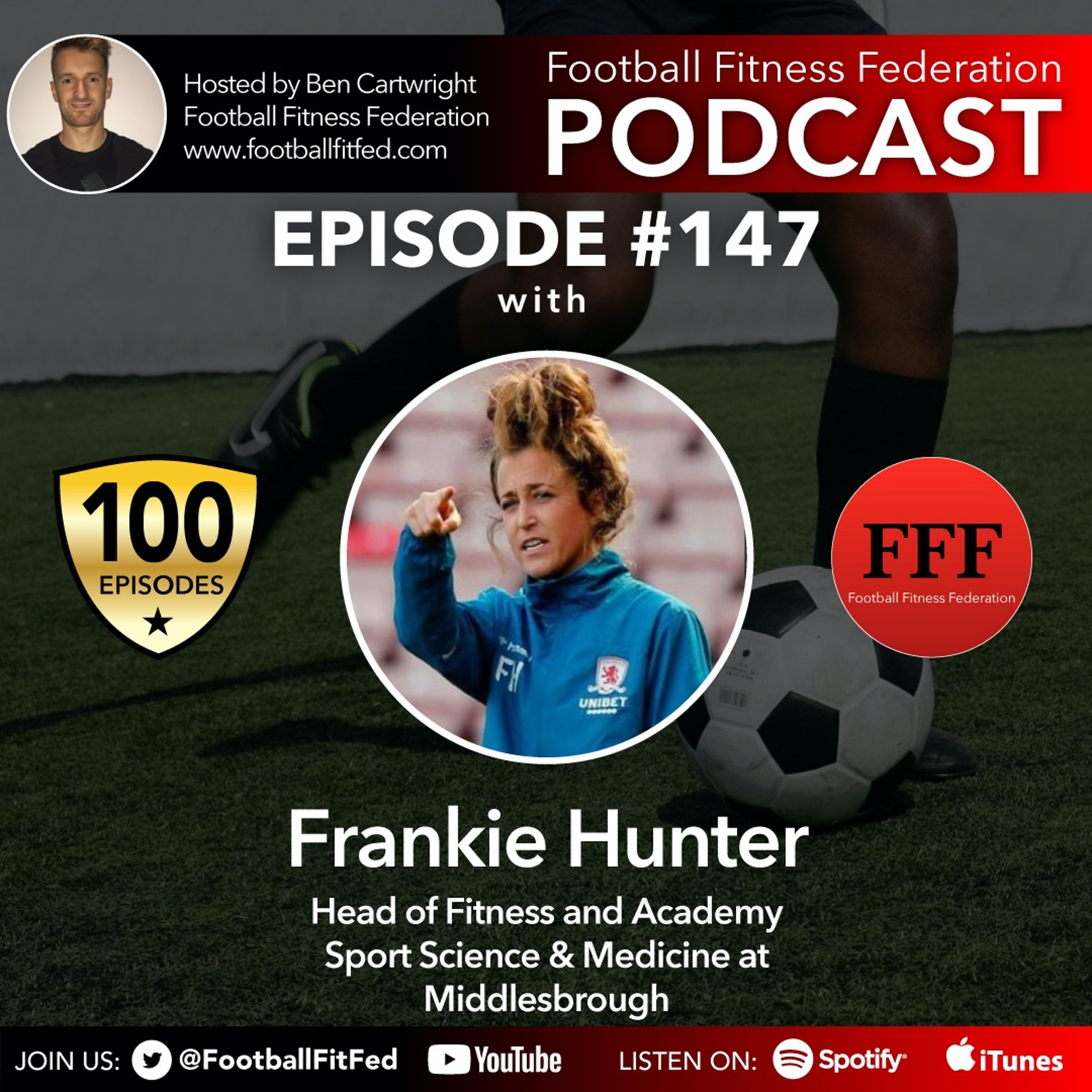 """#147 """"Developing & Maintaining Football Fitness"""" With Frankie Hunter"""