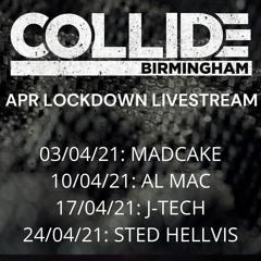 Sted Hellvis - Collide Livestream  April 2021 - Banging Techno