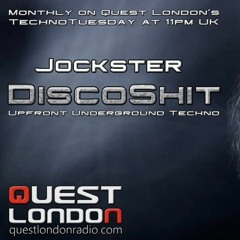 DJ Jockster-'DiscoShit' E5 - QuestLondonRadio (Techno Tuesdays) Broadcast Date: 21st September 2021