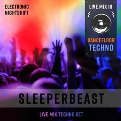 SLEEPERBEAST - Live Mix 18 - DANCEFLOOR TECHNO - Electronic Nightshift