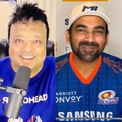 Zaheer Khan (Dir. Cricket Ops Mumbai Indians) with Hrishi K - MI vs KKR IPL 2021 1st game preview