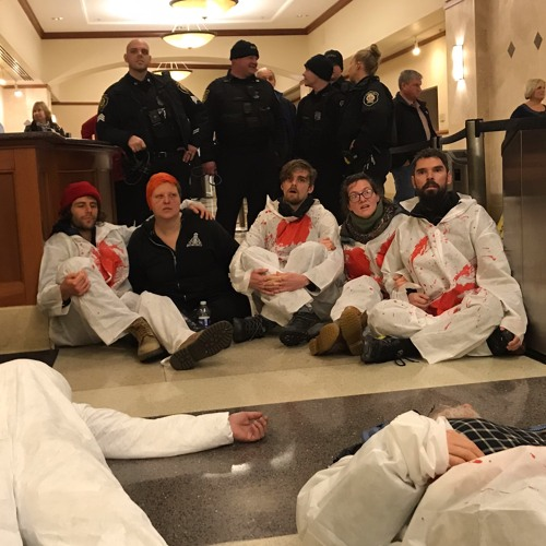 Extinction Rebellion Capital Region occupied NY State Comptroller DiNapoli Office