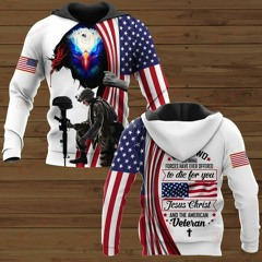 Only two defining forces have ever offered to die for you Veteran 3D Hoodie