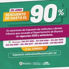Ramiro Barragán Gobernador Boyacá - Aprueban Proy Ordenanza Descuentos 90%