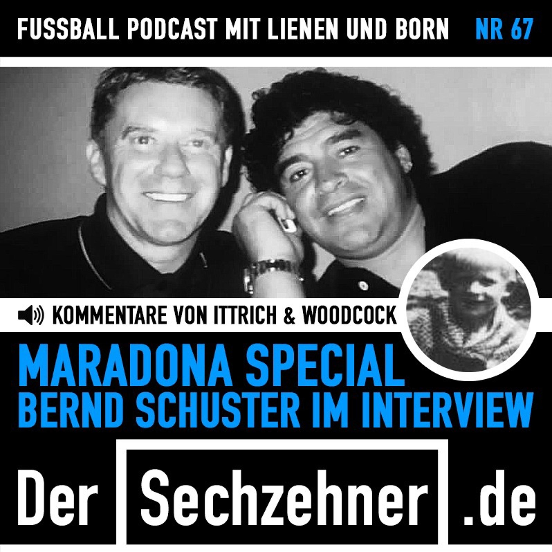 Bernd Schuster im großen Maradona-Special im Sechzehner No.67