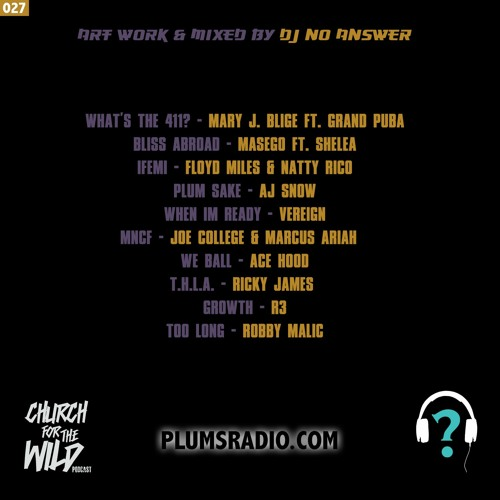 "PLUMS RADIO 027: ""Be Honest..."" w/ Jamisa & DJ No Answer"
