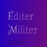 ÉDITER/MILITER – Chapitre 2 : les zines militants
