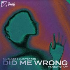 Gil Glaze & Luis Torres - Did Me Wrong (ft. Georgi Kay)
