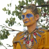 Shamanic ceremony to connect with mother earth through the elements