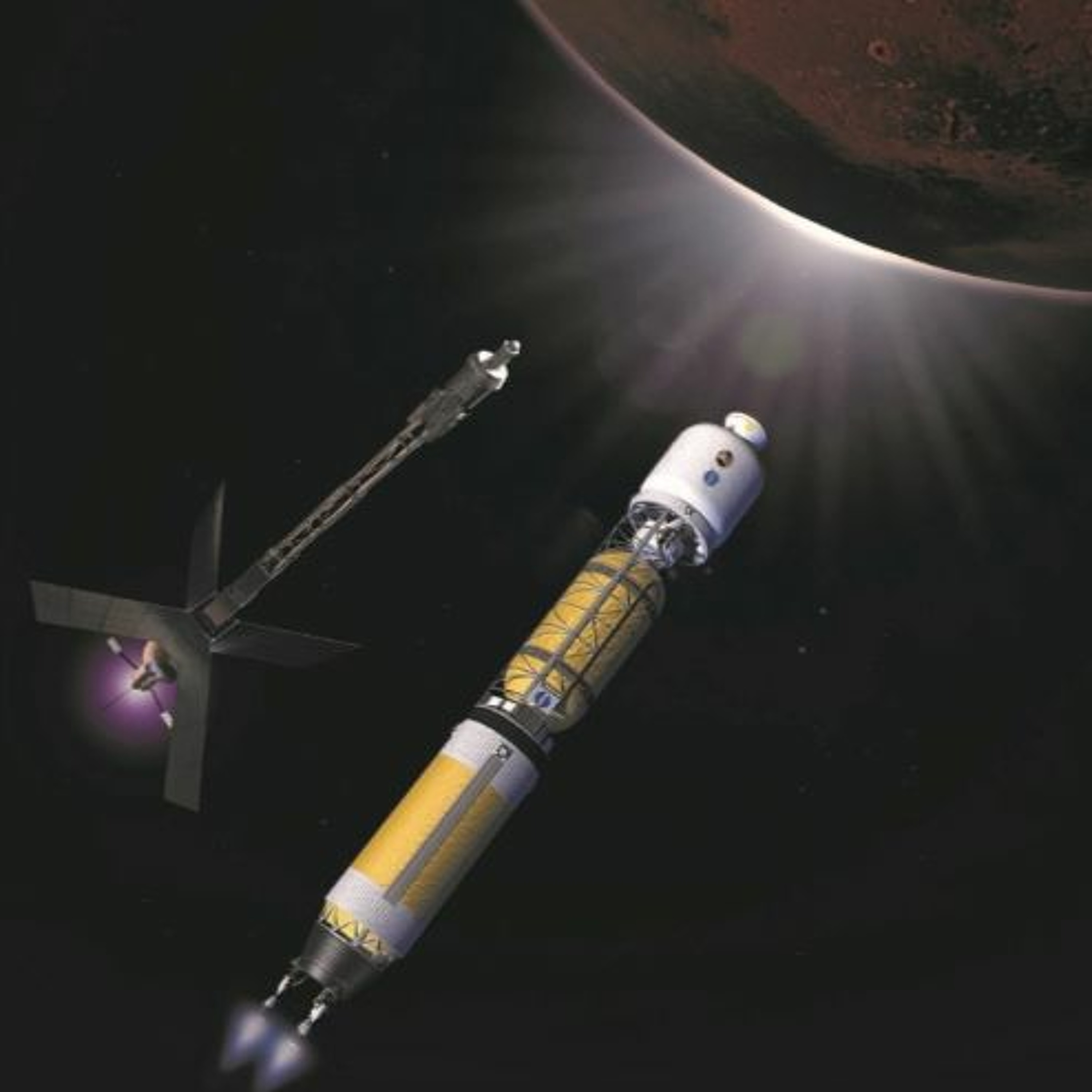 Space Nuclear Propulsion for Human Mars Exploration