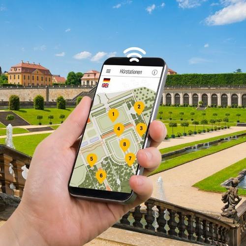 Smartphone-Audioguides | Barockgarten Großsedlitz | An den Sphingen