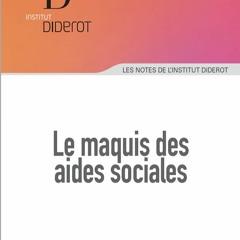 Le maquis des aides sociales - Jean-Pierre Gualezzi - 2018