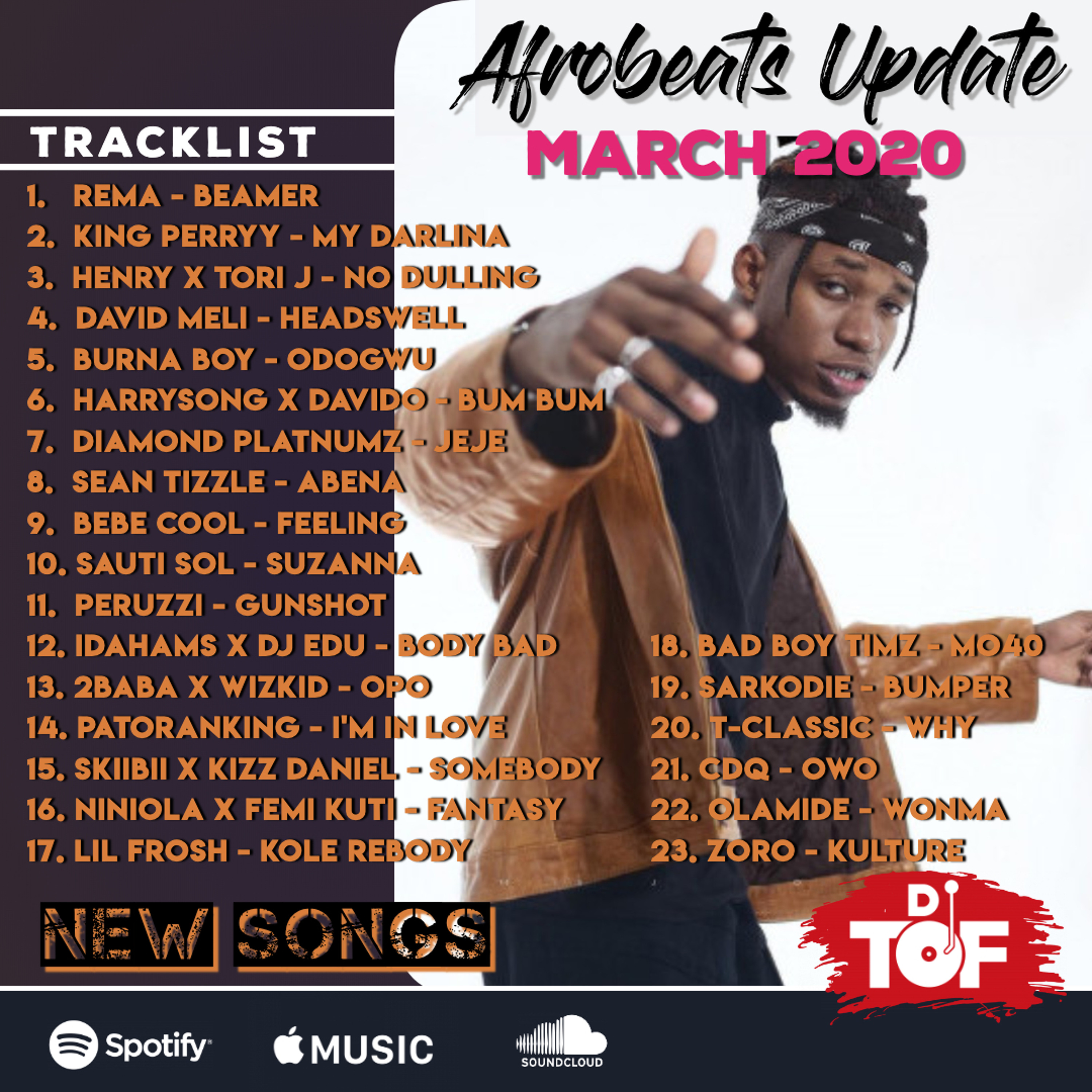 [NEW SONGS] AFROBEATS UPDATE - MARCH 2020