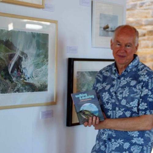 Arist, Tony Kerins has an exhibition at Durlston Castle. Purbeck Coast FM's Ian Harkness meets him.