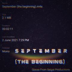 September (the beginning) - 2 June '21