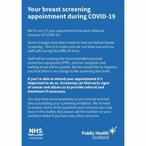 Breast Screening Programme Restart Q&A