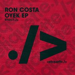 Ron Costa - Oyek EP