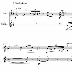"""Prefazione [I mov. of """"Quasi un divertimento""""] for flute and violin"""