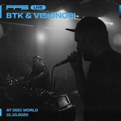 FFS Live: BTK & Visionobi — Disc World Takeover: Vinyl Only Set — 31.10.20