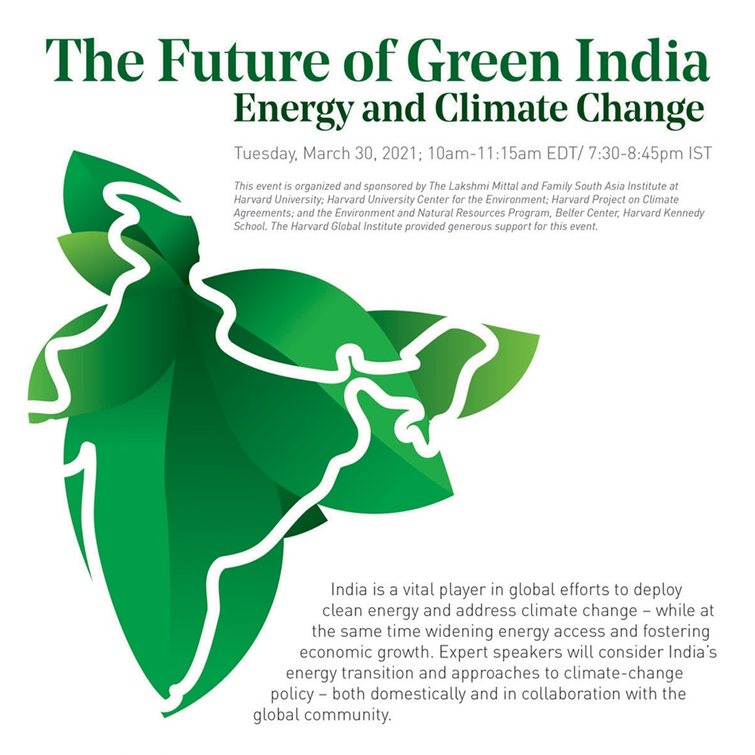 The Future of Green India: Energy and Climate Change