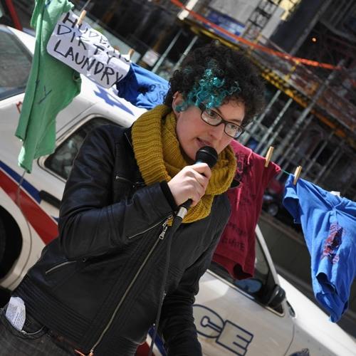 Talk Nation Radio: Rachel Small: Blocking Trucks to Move Canada from War to Peace