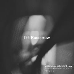 Milligramme Labelnight @ Technoküche - Frank Kusserow Dj - Set Part 2 of 5 / 10.10.2020