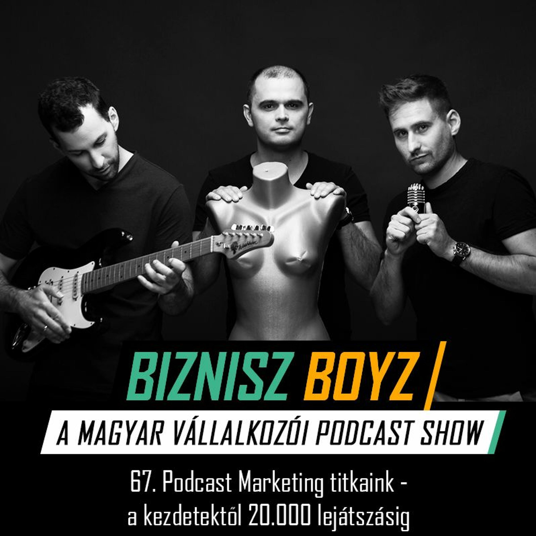 67. Podcast Marketing titkaink - A kezdetektől 20.000 lejátszásig | Biznisz Boyz Podcast