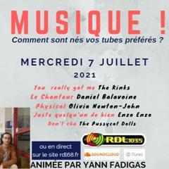 MUSIQUE ! 104 - 07 07 21 - Le chanteur (D. Balavoine) / Physical (O.Newton-John) / Enzo Enzo