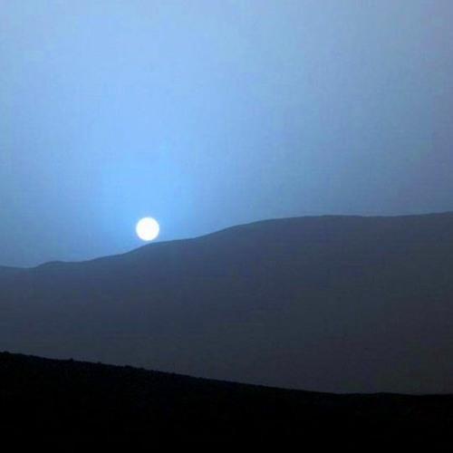 Blue sunset on Mars