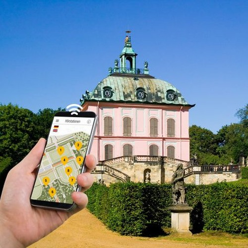 """Smartphone-Audioguides   Fasanenschlösschen Moritzburg    Garnhaus, genannt der """"Japan"""""""
