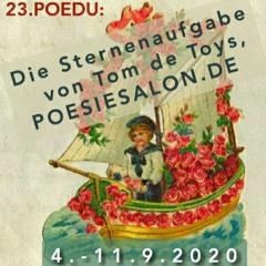"""23.Poedu: """"FÜNF STERNE SPRECHEN..."""" von Tintenfisch (9), rezitiert durch Tom de Toys @poesiesalon.de"""