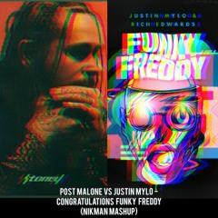 Post Malone vs Justin Mylo - Congratulations Funky Freddy (Nikman Mashup)