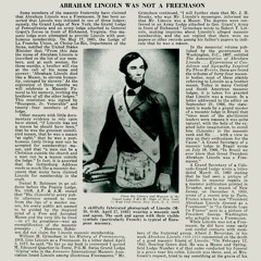 'Abraham Lincoln Was Not a Freemason' the Freemasonic History of the United States Part 5 [Preview]