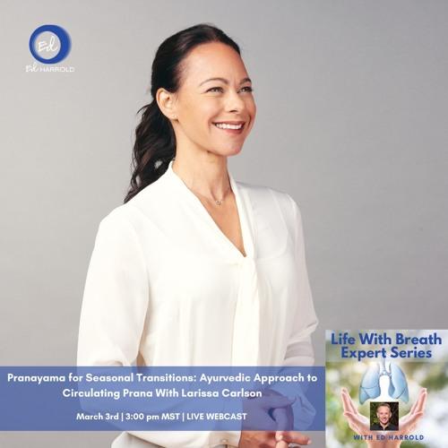 Life With Breath Breathwork Workshops Ayurveda Breathwork With Larissa Carlson