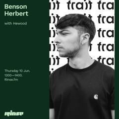 Benson Herbert with Hewood - 10 June 2021