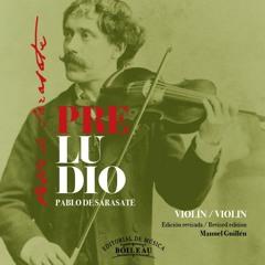 Preludio - Pablo de Sarasate - Solo violin (Revised by Manuel Guillen)