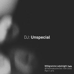 Milligramme Labelnight @ Technoküche - Unspecial Vinyl Set Part 1 (23:00-0:30)10.10.2020