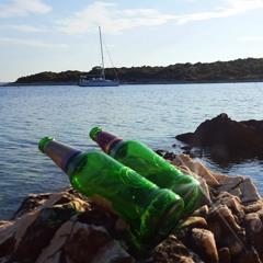 Beer Bottles On The Beach