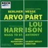 Berliner Messe For Chorus And Organ: VIII: Agnus Dei