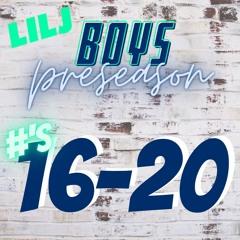 16-20 Pre-season HS Boys