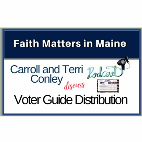 Carroll and Terri Conley discuss Voter Guide distribution