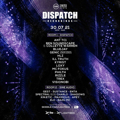 Genic - Dispatch Recordings at Fire & Lightbox LDN, UK - 30.07.2021, Promo Mix